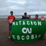 Escobarenses participaron la carrera de aguas abiertas Río Mar